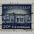 4-U.S. Cat. # 1047 - 1956 20c Monticello