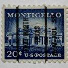 5-U.S. Cat. # 1047 - 1956 20c Monticello
