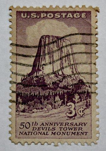U.S. Cat. # 1084 - 1956 3c Devils Tower