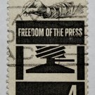 3-U.S. Cat. # 1119 - 1958 4c Freedom of Press