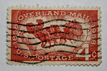 U.S. Cat. # 1120 - 1958 4c Overland Mail