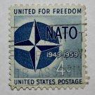 U.S. Cat. # 1127 - 1959 4c Nato