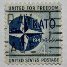 4-U.S. Cat. # 1127 - 1959 4c Nato