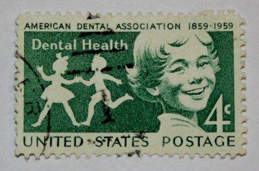 U.S. Cat. # 1135 - 1959 4c Dental Health
