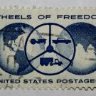 2-U.S. Cat. # 1162 - 1960 4c Wheels of Freedom