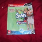 THE SIMS 2 UNIVERSITY + SIMS 2 PRIMA OFFICIAL GAME GUIDE VERY GOOD CONDITION