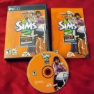 THE SIMS 2 OPEN FOR BUSINESS PC DISC MANUAL CASE & ART GOOD / VERY GOOD HAS CODE