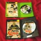 NHL 06 + NHL 2K6  XBOX DISCS MANUALS ART & CASES NEAR MINT TO VERY GOOD