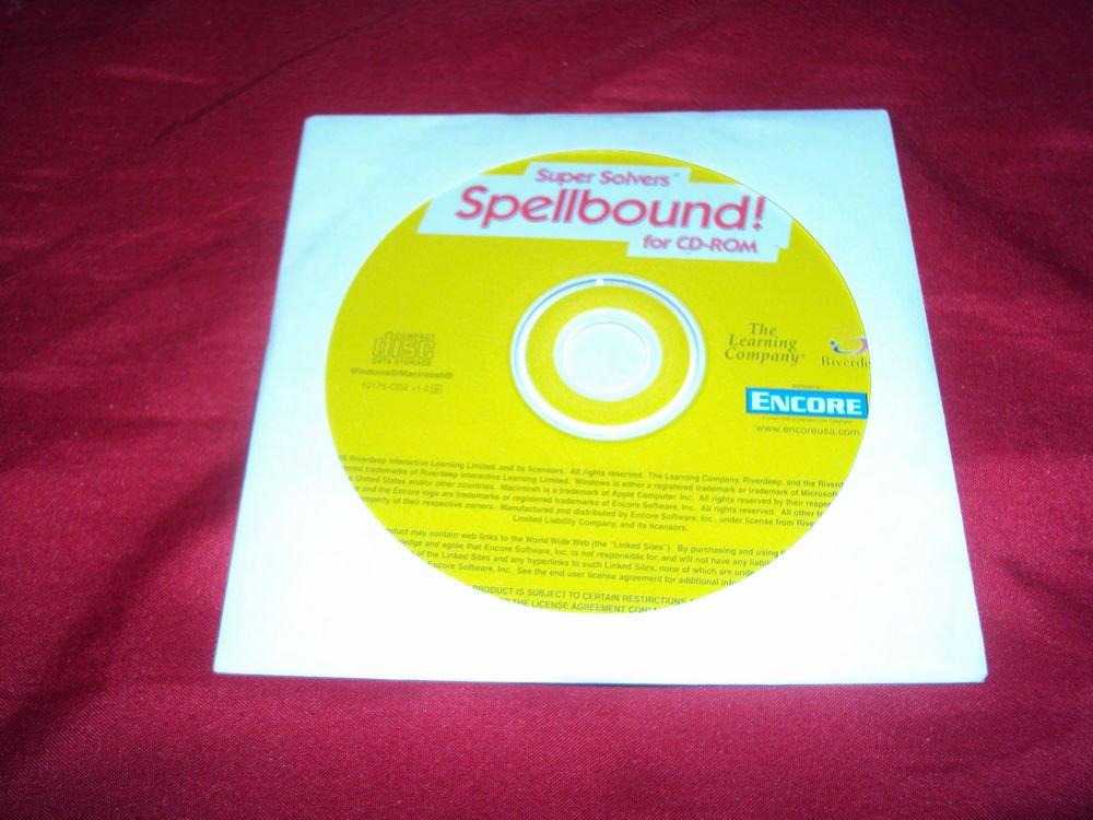 SUPER SOLVERS SPELLBOUND! PC & MAC GAME 2000 XP, Vista, 7 DISC MINT