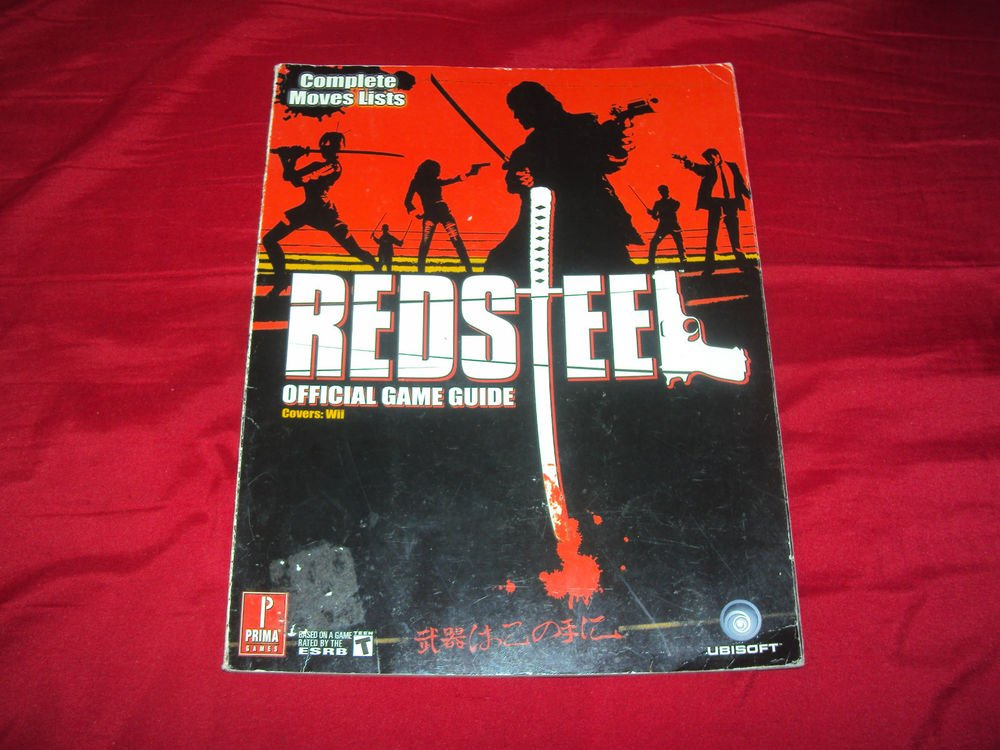 RED STEEL Wii OFFICIAL STRATEGY GAME GUIDE GOOD CONDITION SHIP SAME DAY/NXT