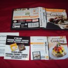 DS PERSONAL TRAINER COOKING CARTRIDGE MANUAL INSERT ART & CASE NEAR MINT