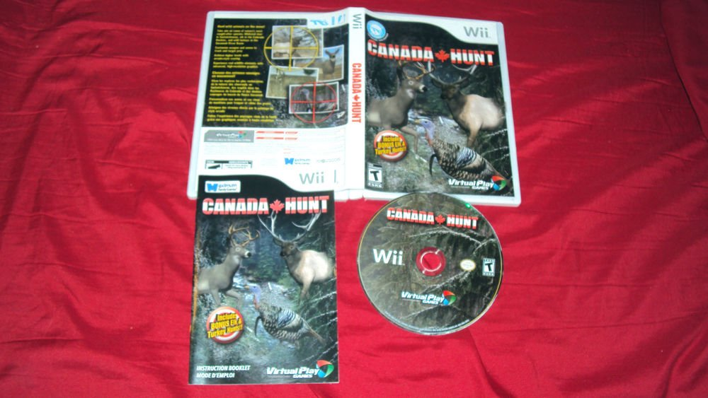 Wii CANADA HUNT DISC MANUAL ART & CASE VG TO NRMNT SHIPS SAME DAY OR NEXT