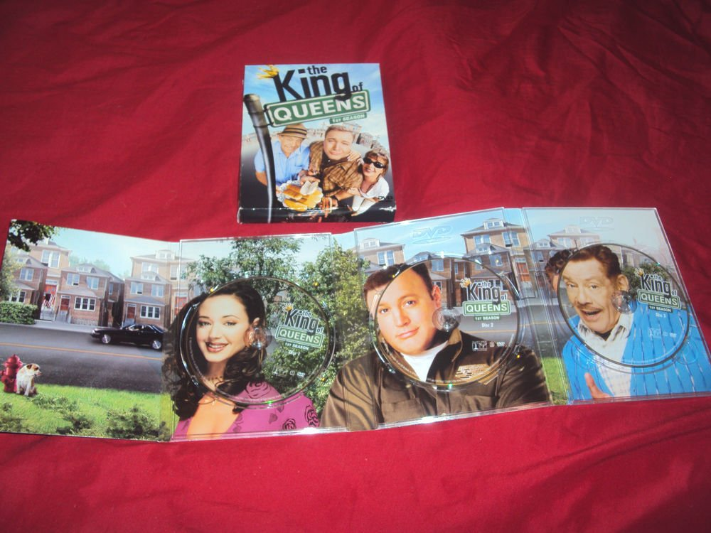 THE KING OF QUEENS SEASON 1 ONE DVD 3 DISCS BOX ART & DISC ART CASE VG TO NRMNT