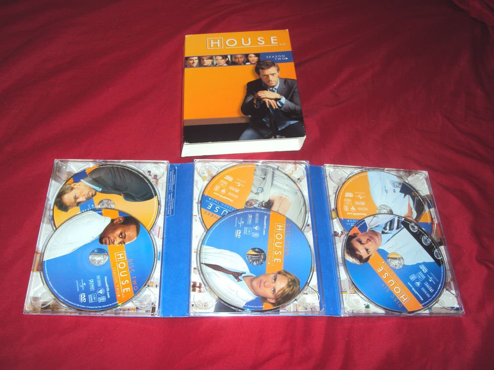 HOUSE SEASON TWO 2 DVD WS 6 DISCS SLIP COVER & ART DISC CASE NEAR MINT