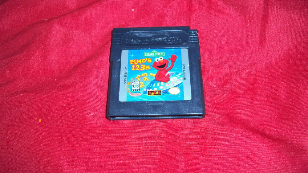 SESAME STREET ELMO'S 123s GB COLOR CARTRIDGE & ART VG SHIP SAME DAY OR NXT