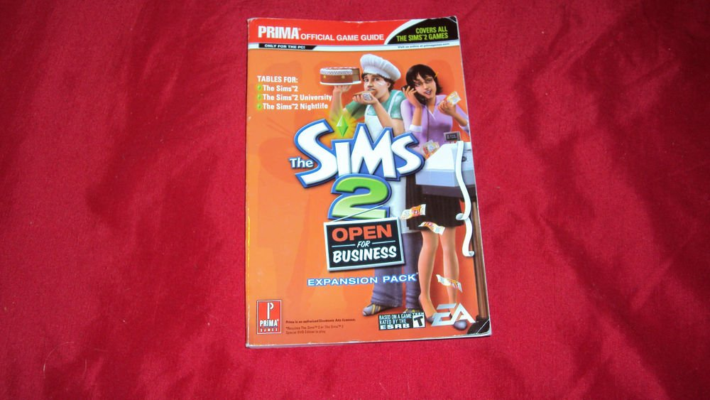 SIMS 2 Open for Business PRIMA GAME GUIDE GOOD CONDITION SHIP SAME DAY/NEXT