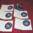 BATTLESTAR GALACTICA SEASON 1 ONE DVD 5 DISCS BOX ART CASES & ART MINT TO NRMNT