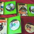 NHL 2K5 + NFL 2K6 + NCAA FOOTBALL 2005 + NHL 2K6 + TOP SPIN XBOX GAMES GOOD TO V