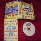 THE SIMS 2 FAMILY FUN STUFF PC DISC MANUAL ART & CASE NEAR MNT TO  MINT HAS CODE