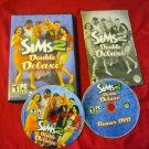 SIMS 2 DOUBE DELUXE PC DISCS MANUAL ART & CASE NEAR MINT TO GOOD HAS CODE
