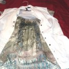 ONE WORLD LIVE AND LET LIVE WOMEN'S BLOUSE VEST TOP SIZE LARGE ONE OWNER NICE