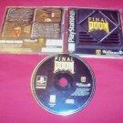 FINAL DOOM PS1 Playstation 1 *** PS2 *** PS3 DISC MANUAL ART & CASE VG TO GOOD