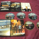 ENTOURAGE The COMPLETE SECOND & FIRST SEASON DISCS BOX ART & INSERT NEAR MINT