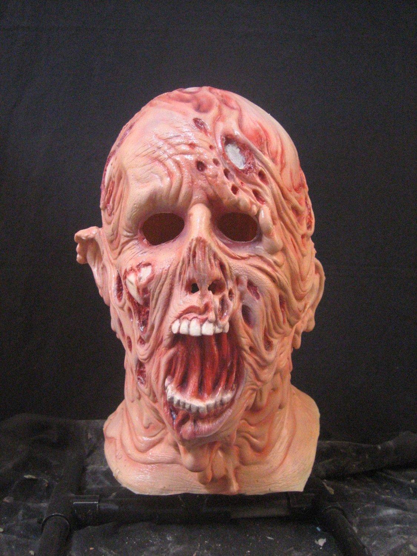 Global Warming Meltdown Melting Skin Undead Walking Dead Monster Creature Scary Halloween Mask
