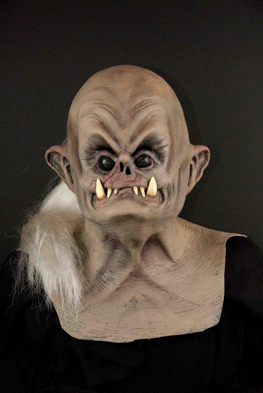 Dogman Monster Creature Man-Dog Ugly Fugly Pugley Black Eyed Beast Scary Halloween Mask