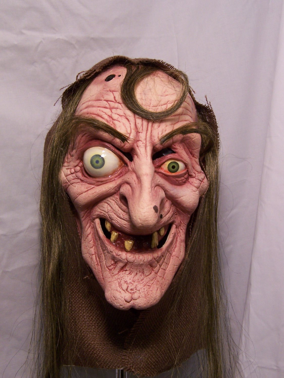 Wicked Witch Sea Hag Seer Oracle Ugly Old Nag Woman Latex Halloween Mask