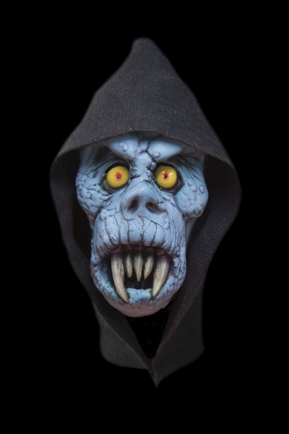 Blue Banshee Prehistoric Zombie Ghoul Ghost Monster Creature Scary Full Head Halloween Mask