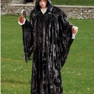 The Regency Hooded Robe Black Velvet Medieval Renaissance Ritual Ceremony Attire