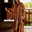 The Regency Hooded Robe Camel Brown Velvet Medieval Renaissance Ritual Ceremony Attire
