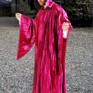 The Regency Hooded Robe Fuchsia Red Velvet Medieval Renaissance Ritual Ceremony Attire