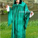 The Regency Hooded Robe Jade Green Velvet Medieval Renaissance Ritual Ceremony Attire