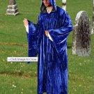 The Regency Hooded Robe Royal Blue Velvet Medieval Renaissance Ritual Ceremony Attire