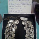 1950 or earlier vintage rhinestone ear climber clip earrings