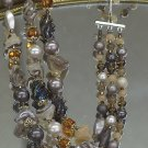Japan Vintage 3 strand necklace plastic and glass beads