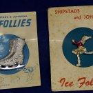 Vintage Shipstads and Johnson Ice Follies souvenir pins on original cards