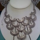 Sarah Coventry vintage necklace Charisma from 1973 silvertone
