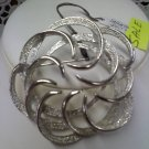 Sarah Coventry vintage brooch pin Tailored Swirl silvertone