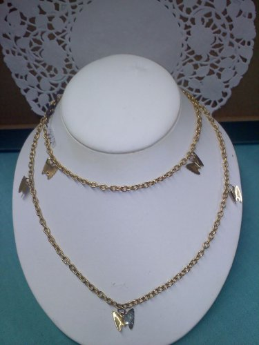 Sarah Coventry vintage necklace Flutter Byes goldtone