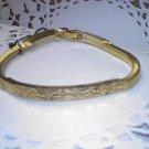 Hobe vintage bangle and clasp bracelet in goldtone