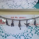 Old charm bracelet souvenir from Florida - original card and box