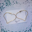 "Avon ""Touchpoints"" Goldtone heart pierced earrings from 1977"
