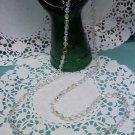 Aurora Borealis crystal bead 30 inch long necklace