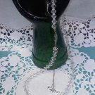 Vintage crystal bead 18 inch long necklace