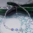 Aurora Borealis crystal bead 16 inch long choker necklace