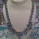 Eisenberg Ice - Blue Ice rhinestone necklace