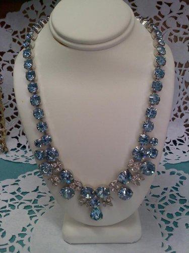 Eisenberg Ice - Blue Ice rhinestone necklace